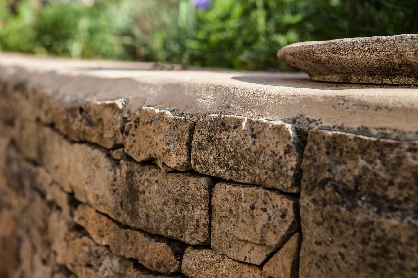 Realisation terrasse murets escalier allee jardin pierre recuperation 2
