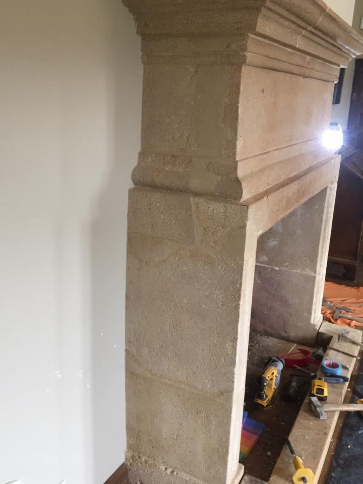 Erbat rénovation d'une cheminée